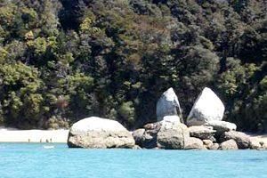 MAP NEW ZEALAND Abel Tasman split apple rock