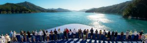NEW ZEALAND Marlborough Sound Interislander bow 2