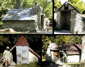 NEW ZEALAND Arrowtown Chinese Settlement collage
