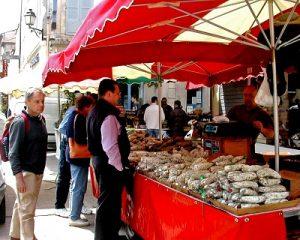 FRANCE Arles market sausage
