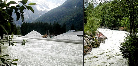 FRANCE Chamonix 056 chalky river collage