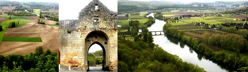 FRANCE Domme Dogdogne River view collage