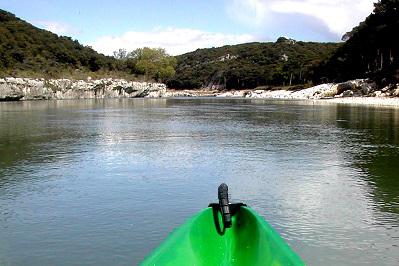 FRANCE Pont du Gard canoe start 4