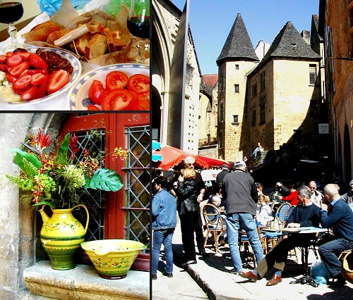 FRANCE Sarlat day of rest collage