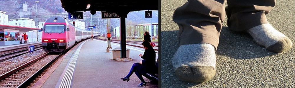SWITZERLAND Martigny + Sock feet collage